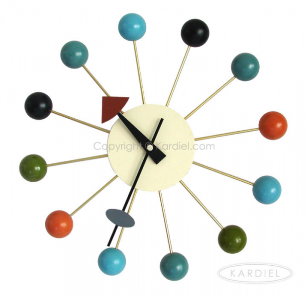 Home Accessories George Nelson Ball Clock, Multicolor