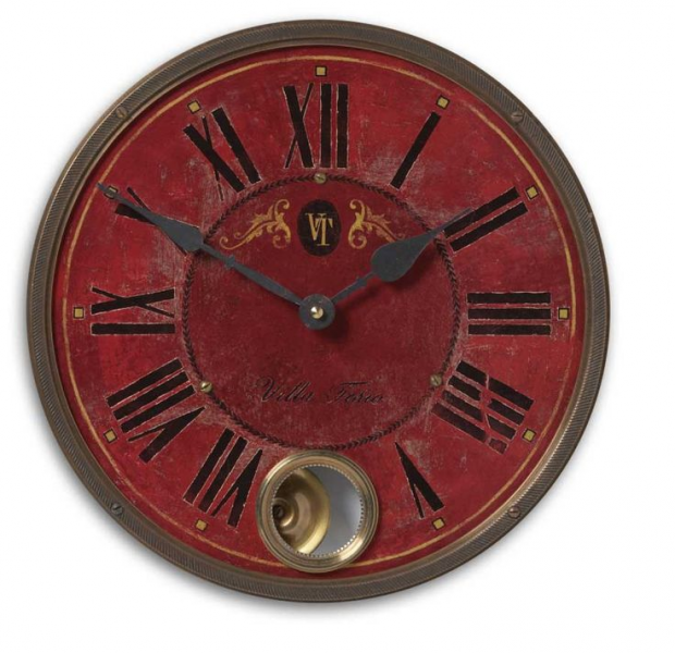 11 Inch Villa Tesio Wall Clock | Clocks for Rustic Decor | Pinterest