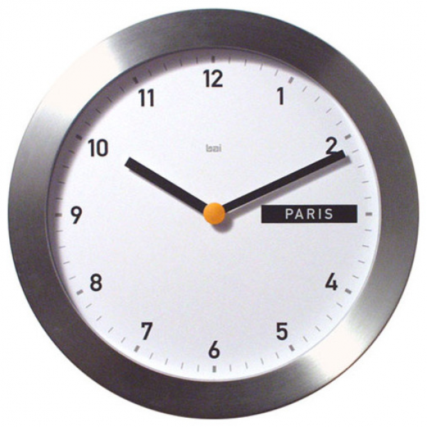 11-Inch Global Wall Clock - Modern - Clocks - by Bellacor