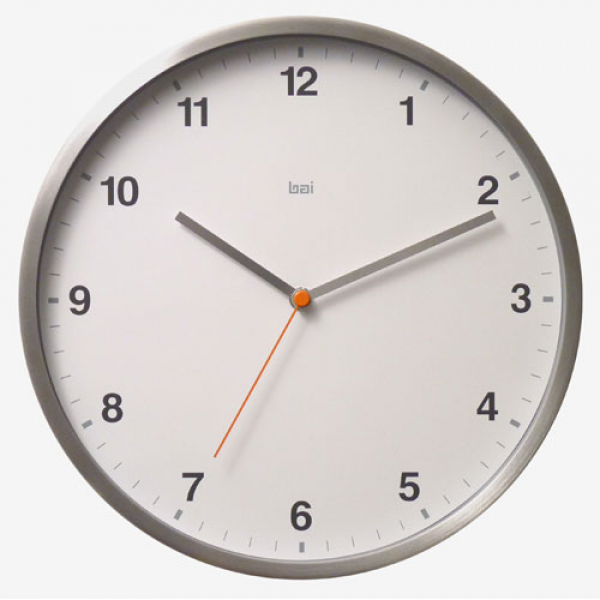 ... 11 Inch Aluminum Wall Clock Bai Design Wall Mounted Clock Clocks Home