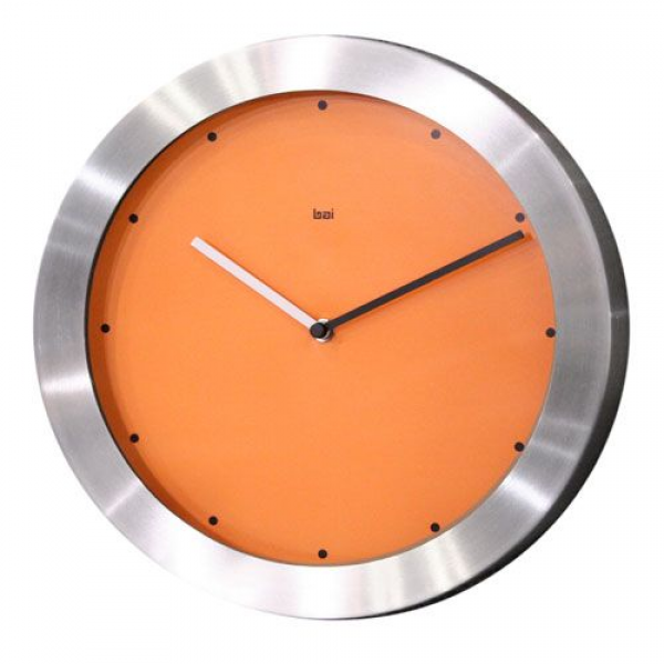 Signature 11 Inch Brushed Aluminum Wall Clock Bai Design Wall Mounted ...