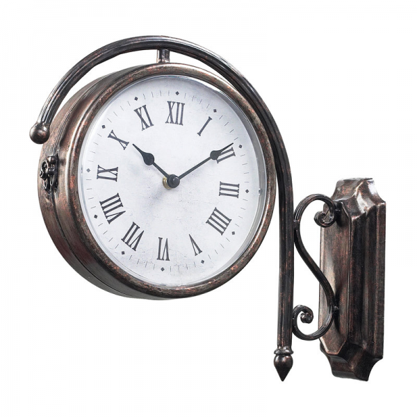 ... Bronze 13 Height Antique Double Sided Wall Clock - LightingDirect.com