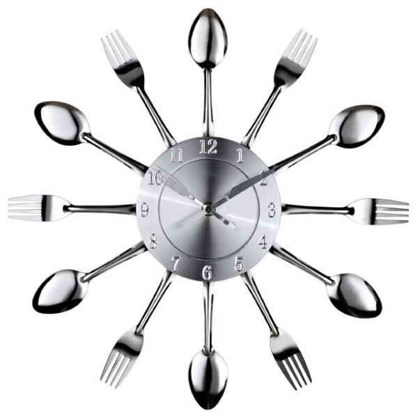 LexMod Fork and Spoon Dining Wall Clock eclectic-clocks