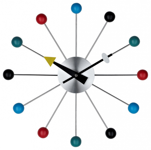 Ball Wall Clock in Multi Color - Modern - Wall Clocks - by LexMod
