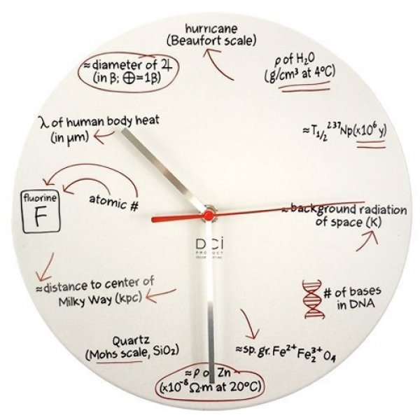 Dci Science Quiz Wall Clock from Decor Craft Inc / DCI - Decorstuff ...
