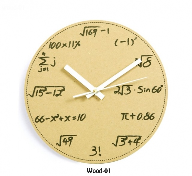 Math and Science Pop Quiz Wall Clock | Thinng