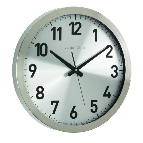 London Clock Company Brushed Metal Contemporary Wall Clock | Discount ...