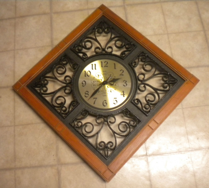 ... Thomas Sierra Diamond Scroll Design Wall Clock 19 in x 19 In | eBay
