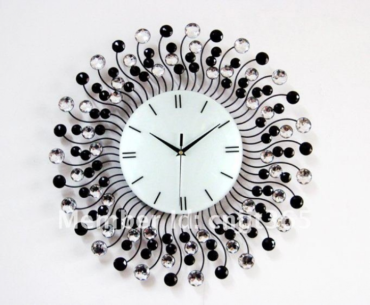 Metal-diamond-wall-clock-fashion-decorative-wall-clocks-wholesale-and ...
