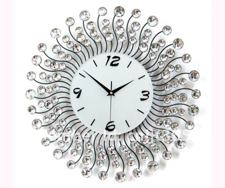 ID: 665404677 Metal diamond wall clock, fashion decorative wall clocks ...