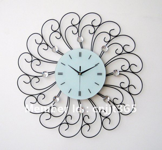 Metal diamond wall clock, fashion decorative wall clocks + wholesale ...