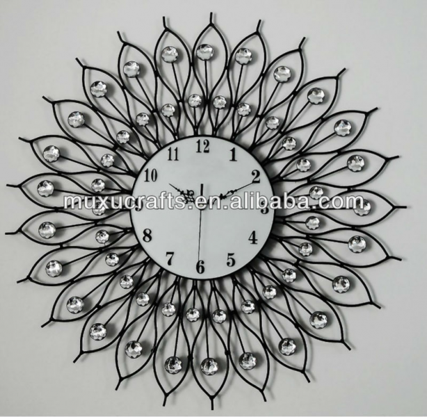 Wall Clock, Metal Wall Clock,Diamond Wall Clock,Decorative Wall Clock ...