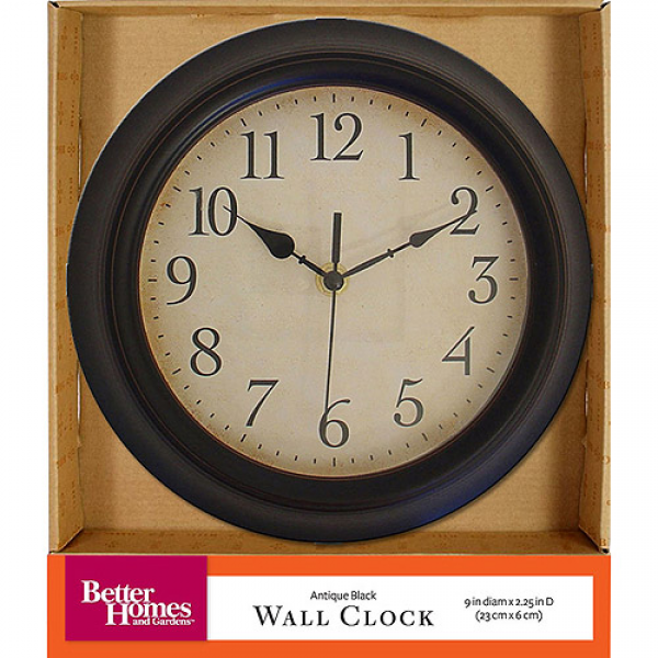 Better Homes and Gardens Antique Black Wall Clock - Walmart.com
