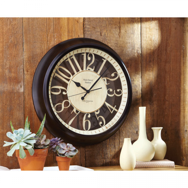 Better Homes and Gardens Silhouette Wall Clock - Walmart.com