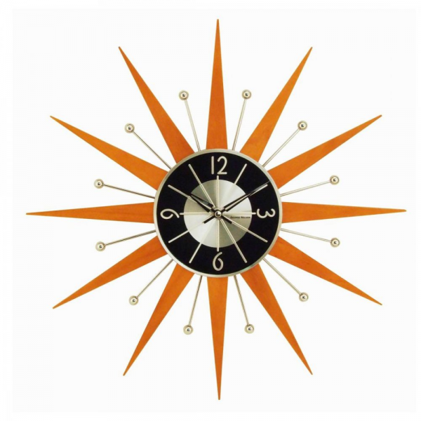 ... Clock › George Nelson › George Nelson Starburst Crown wall clock