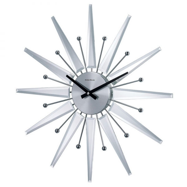 Home > Kids Decor > Clocks > George Nelson Mirrored Starburst Clock
