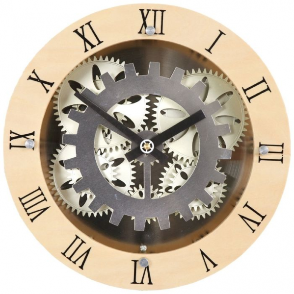 Moving Gear Wall Clock | It's About Time! | Pinterest