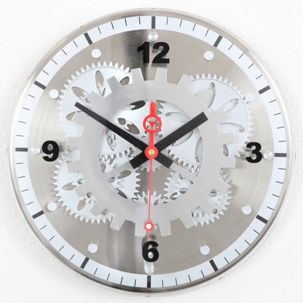 Moving-Gear Wall Clock with Glass Cover - Wall Clocks