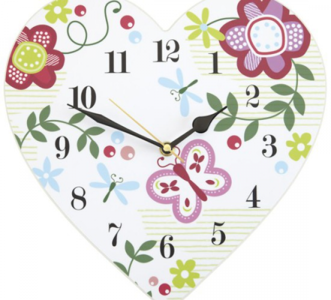 Heart Shaped Wall Clock – by ASPACE