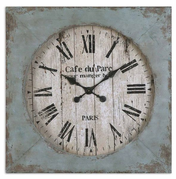 Distressed Wooden Wall Clock | Clocks | Pinterest