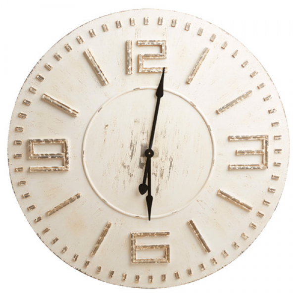 Wood Distressed Clock | Wayfair
