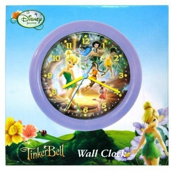 Disney Fairies TinkerBell Wall Clock 8 Inch by Home and Living, http ...