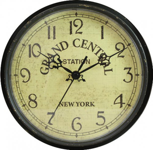 ... Clocks › Geneva 9-Inch Plastic Wall Clock (Grand Central Station