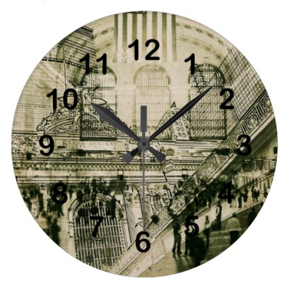 Grand central Station, NYC Round Wall Clock | Zazzle