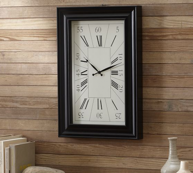Rectangular Wall Clock | Pottery Barn