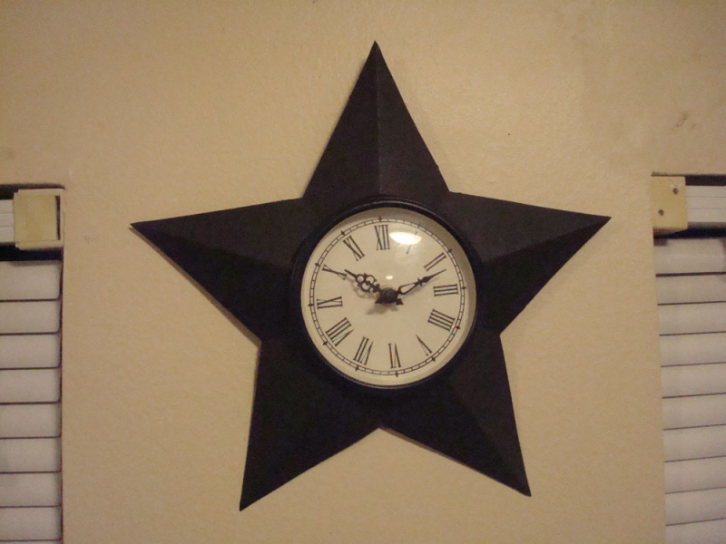 ... Wall Clock Primitive Rustic Early American Big Barn Star | eBay
