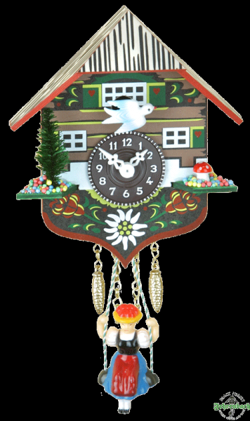 Home Quartz Cuckoo Clock with Swinging Girl