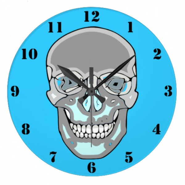 FUNKY SKULL Wall Clock | Zazzle