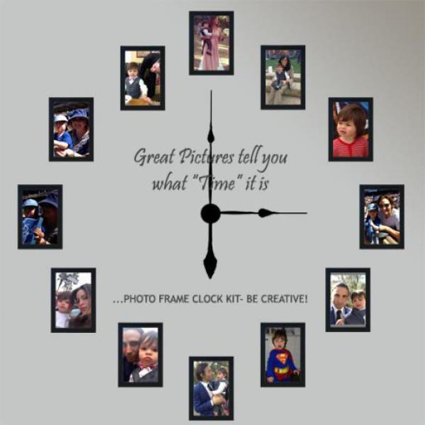 Photo Frame Family Time Clocks: Cool Wall Clocks - WWW.TOP-CLOCKS.COM