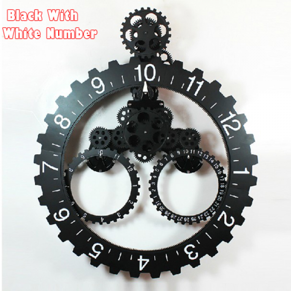 Gears Wall Clock-Buy Cheap Gears Wall Clock lots from China Gears Wall ...