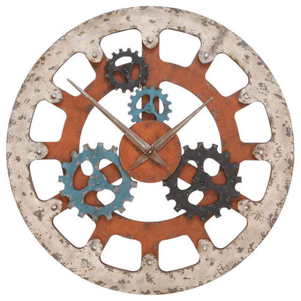 Casa Cortes 'Gears of Time' Large Wall Clock - Contemporary - Clocks ...