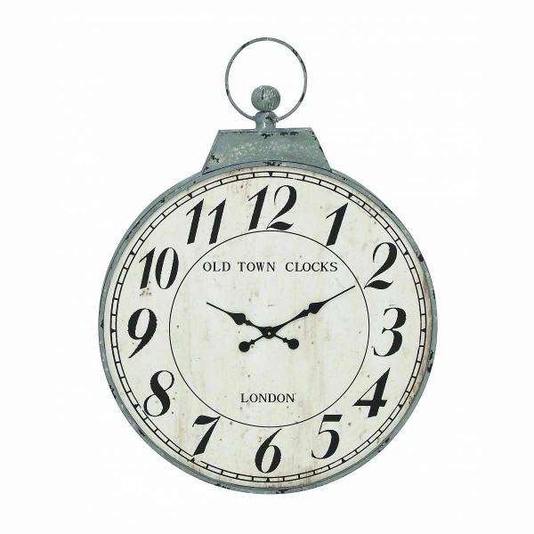Benzara Antique Metal Round Shaped Wall Clock - Pricefalls.com