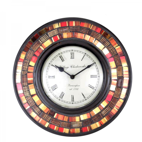 Antique Multicolor Round Shaped Wall Clock | Wens Kart