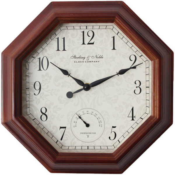 Better Homes and Gardens Octagon Wall Clock, Wood: Other Home ...