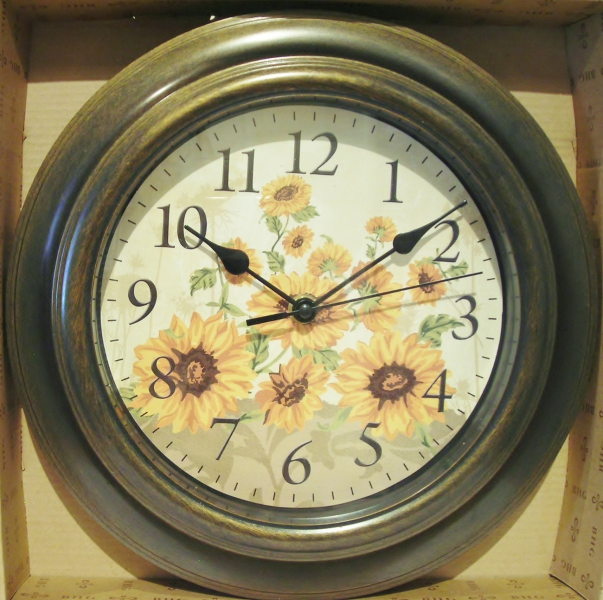 Wall Clock Sunflowers by Better Homes and Gardens New - Wall Clocks