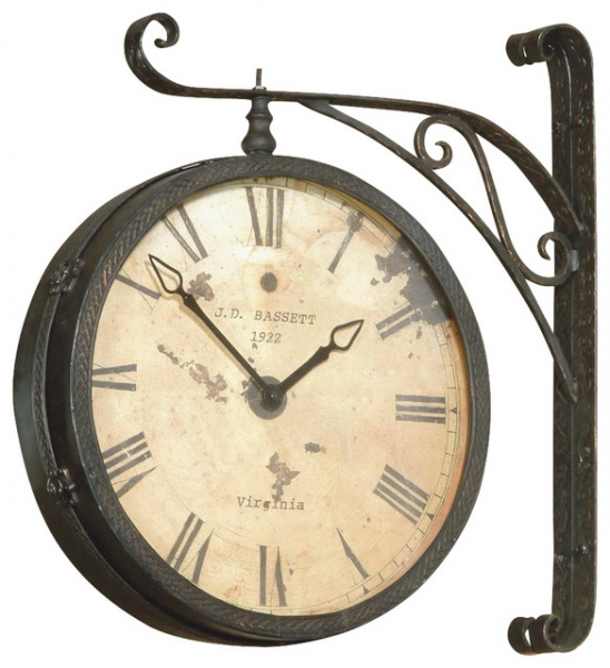 Wall Mount Hanging Clock w Roman Numerals in - Traditional - Clocks ...