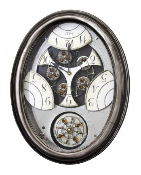 Rhythm Royal Brilliance Wooden Case Musical Wall Clock