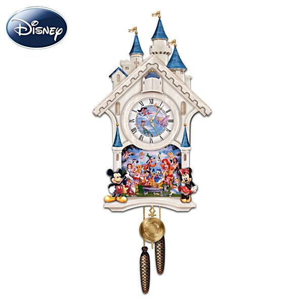 Cinderella Castle Wall Clock With 40 Friends