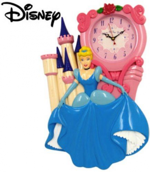 MZ Berger DC94609 Disney Cinderella Castle Wall Clock, Designed clock ...