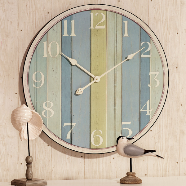 Home > Nautical Striped Wall Clock