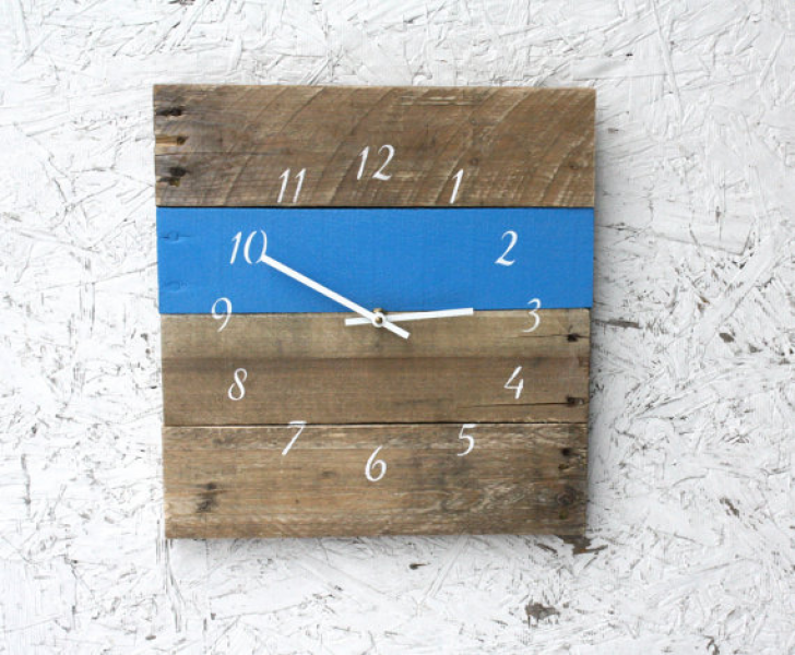 white Beach Themed Clock. Nautical theme. Modern meets Rustic. Beach ...