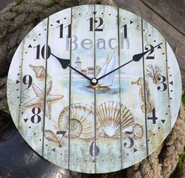 ... clock, cabin tide clock, beach clock, lifering clock, knotboard clock