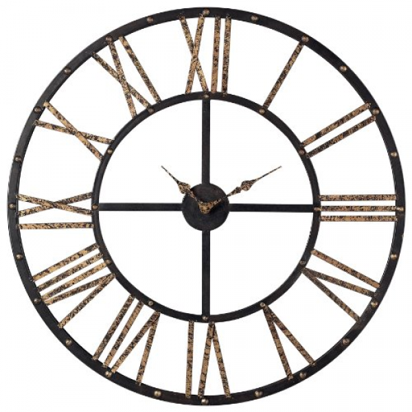... -Numeral-Open-Back-Wall-Clock-28-by-28-Inch-Mombaca-BlackGold-0.jpg