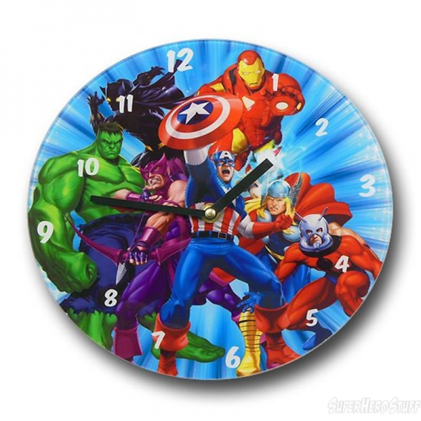 Avengers Burst Glass Wall Clock (Sold Out)