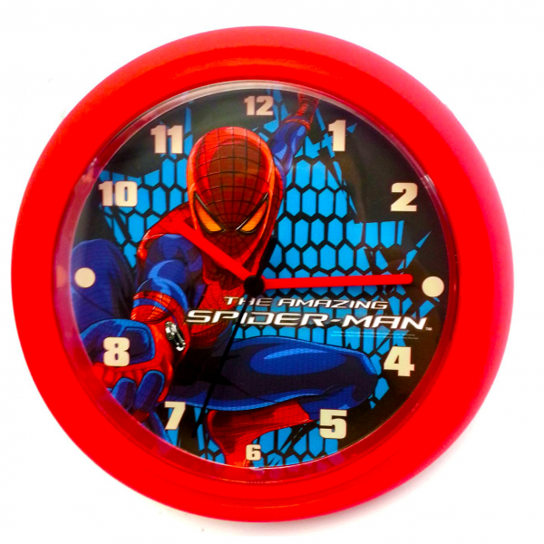 ... Man Marvel Superhero Childrens Bedroom Wall Clock Enlarged Preview