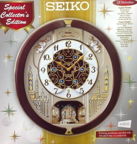 Seiko Melodies in Motion Musical Wall Clock with 18 Melodies - http ...